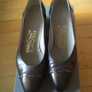 Salvatore Ferragamo, Size 5B, leather pumps